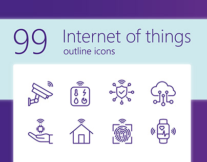 IoT outline iconset