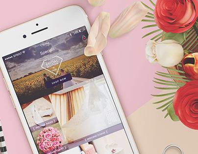 eCommerce store app UI