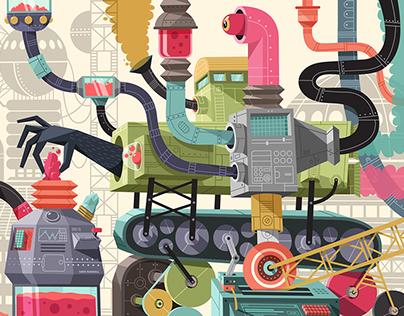 Nickelodeon West Coast Garage Mural