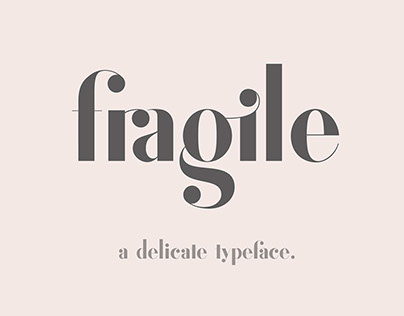 Fragile - Fiona - Catalogue (Typeface Collection)