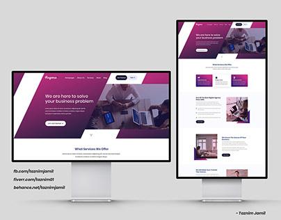 Business Consult themed Website UI Design