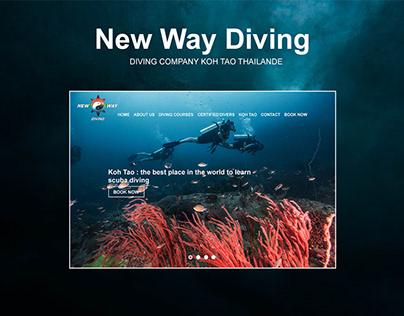 New Way Diving - Design Concept website