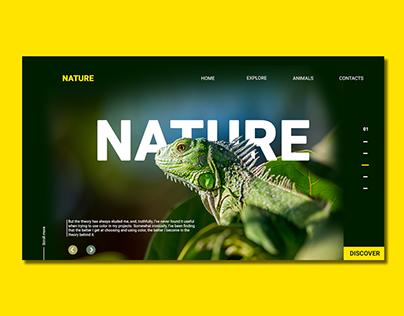 Free Nature PSD Landing Page Design