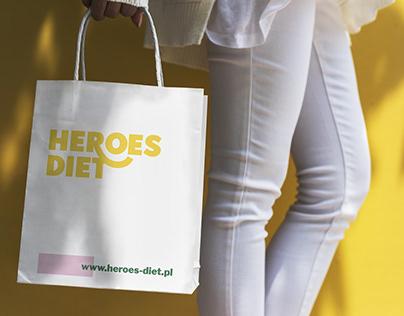 Heroes Diet catering   Rebranding & website
