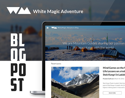 White Magic Adventure - Blog Design