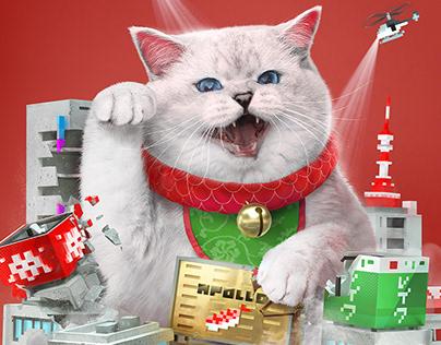 Cat celebrities Maneki Neko 1