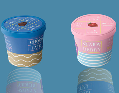 Nana's ice cream/package design.