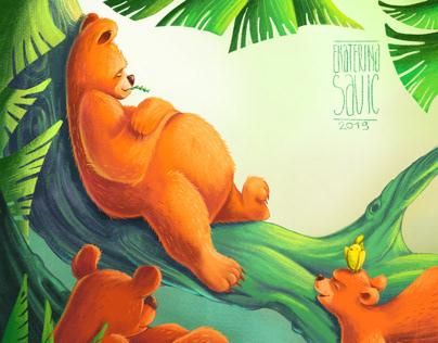 Chilling bears