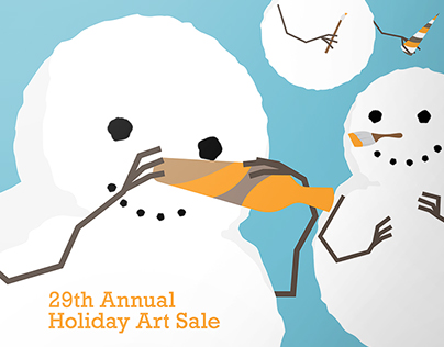 SAIC Holiday Art Sale Identity Design