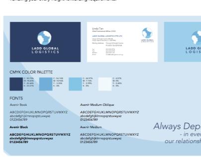 LADD Global Logistics Branding