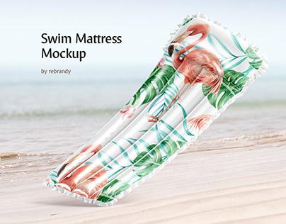 Swim Mattress Mockup