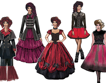 Goth- Lolita Fashion Illustrations