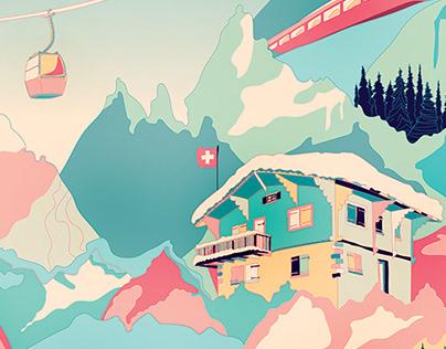 Zurich, Switzerland travel poster