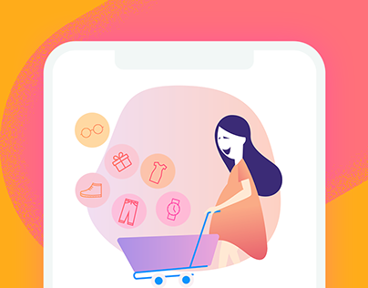 Shopping App Sign In, Sign Up & On-boarding Screens