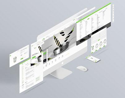 Website design for an online tableware store