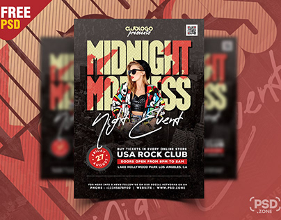 Creative Party and Club Flyer PSD