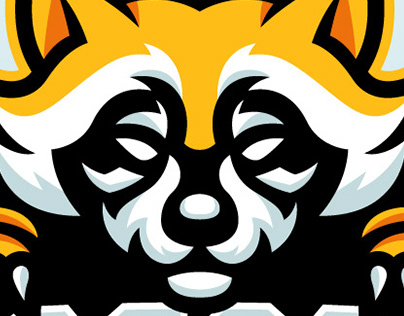 Racoon Esports Mascot Logo | Sports Logo