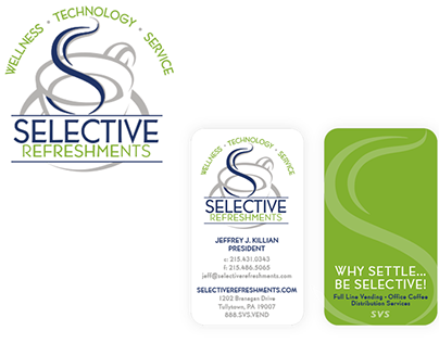 Selective Refreshments Logo and Business Card