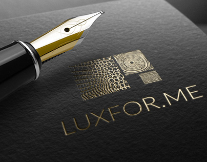 Logo and corporate identiye for LUXFOR.ME