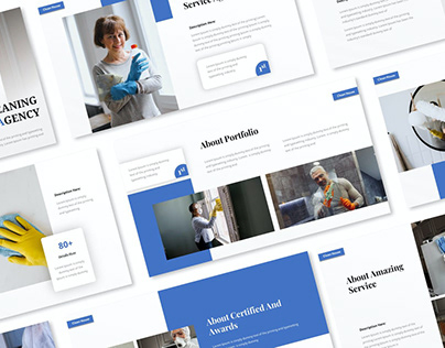 Cleaning Service Agency Presentation Template