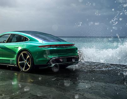 Porsche Taycan CGI - Maground HDRI & Backplates