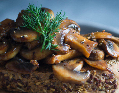 Garlic & Soy Mushrooms On Toast
