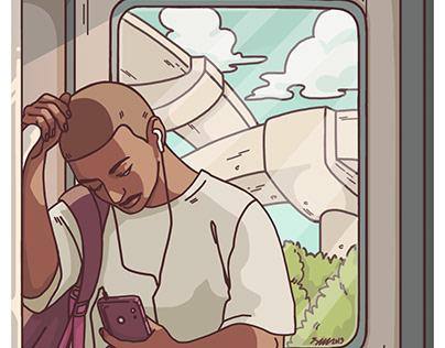 Garoto no trem