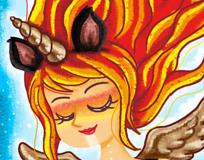 Fire Unicorn Girl