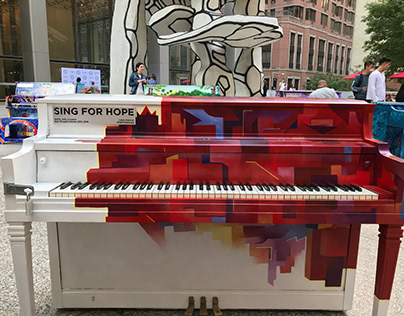 "Public Art: ""Red Thought Cluster"" Piano"