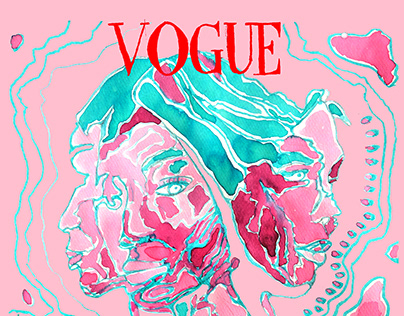 Surreal Vogue UK cover