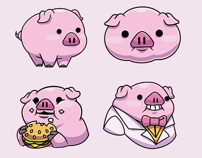 Happy Bacon Stickers