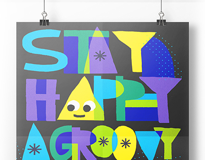 Stay Happy. A Groovy Coloring Experience.