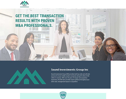 Sound Investments Group Inc Landing page UI design