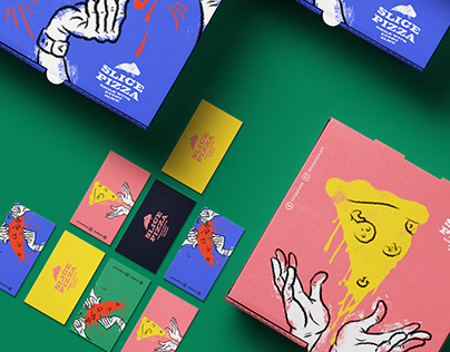 Slice Pizza Branding and Packaging