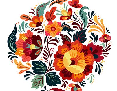 Folk flowers