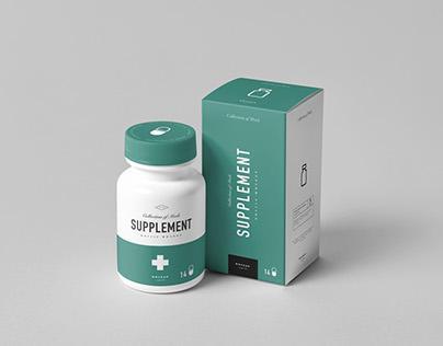 Supplement Jar & Box Mock-up