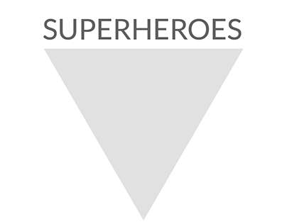 superheroes / logo design
