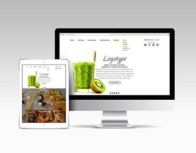 Дизайн сайта для кафе/ Website design for cafe