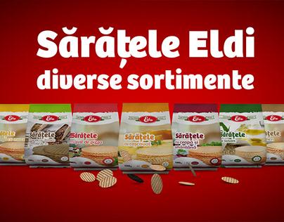 Teaser Eldi - Saratele packaging design & animation