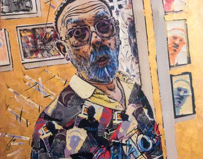 """Chaos Blue Beard"" painting"