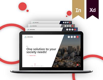 SERVIZING - Website Redesign
