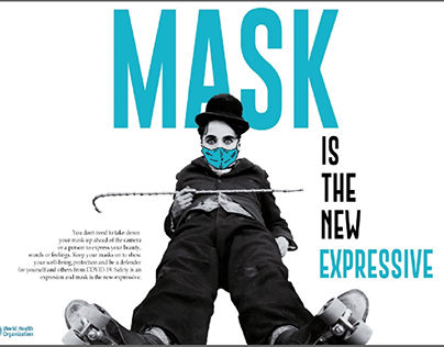 Mask is the new expressive (Covid poster series)