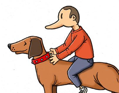 Sausage dog & rider