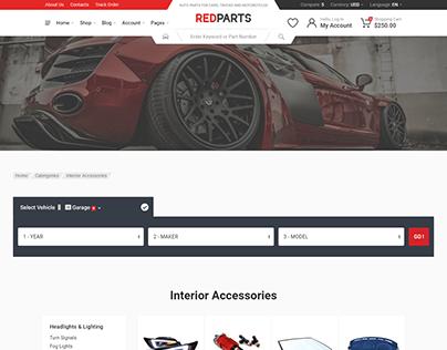 RedParts Landing Page