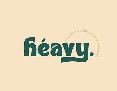 Heavy - Bold Font