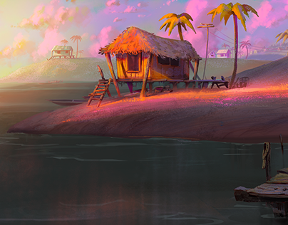 A Sunset In The Beach!