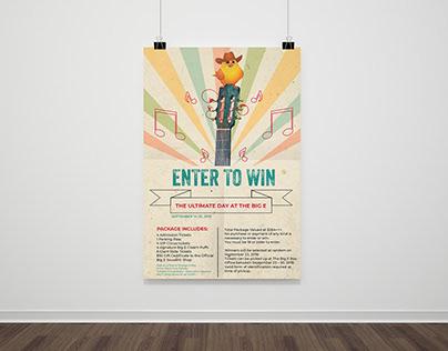 Big E giveaway poster