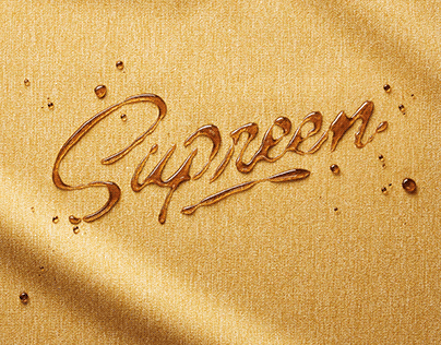 Supreen - Advertisment lettering