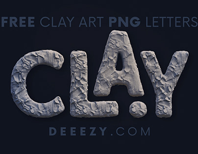 Free Clay Art 3D Lettering