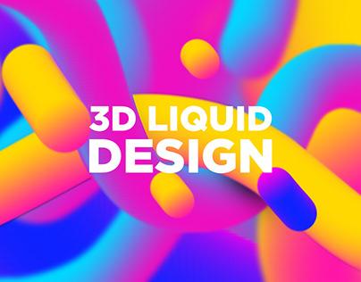 Colorful Design 3D Liquid